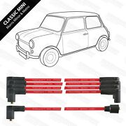 Classic Mini 8mm Powerspark Ht Leads Uk Made In Red For Road, Track And Rally Cars