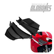 Usa For Ducati Panigale V4 Motorcycle Winglets Air Deflector 100 Carbon Fiber