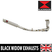 Gsxr 600 750 L1-l9 11-19 Race Exhaust System Round Gp Stainless Silencer Sg35r