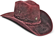 Cowboy Hat For Men Black Leather Vintage Straw Texan American Zalupe Hats
