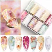 Candy Marble Nail Foils Glitter Foil Nail Art Transfer Stickers Decals Tips Diy