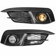 2x Front Bumper Clear Lens Fog Light For 16-17 Honda Civic 2/4dr W/ Switch+bulbs
