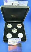 2010 1 Tuvalu - Great River Journeys - 1oz Silver Proof Five - Coin Set
