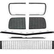 Oer Rs Grill Kit With Silver Trim W/o Headlamp Bezels 1967-1968 Chevy Camaro