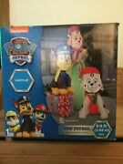 9andrsquo Gemmy Paw Patrol Chase Marshall And Skye Lighted Christmas Airblown Inflatable