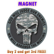 Punisher Skull Magnet Camo Us Army Car Truck 4 Made In Usa Buy 2 Get 3rd Free