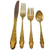 English Provincial Gold By Reed And Barton Sterling Silver Flatware Set Service