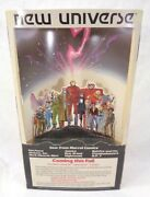 1986 Marvel The New Universe Comic Book Cardboard Counter Display Advertisement