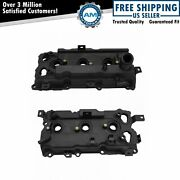 Engine Valve Cover Pair W/ Gasket Lh Rh Sides For Nissan Infinity Vq35hr