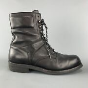 Purple Label Size 12 Black Leather Lace Up Work Boots