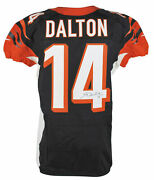 Bengals Andy Dalton Signed 10/14/2012 Game Used Black Nike Jersey Psa N91089