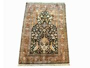 3x5 Antique Turkish Cotton Love Birds 1930and039s Hand-knotted Area Rug 3and039 X 4and0399