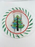 Kosta Boda Christmas Tree Plate 79425 7 1/2 Signed Discontinued With Hanger