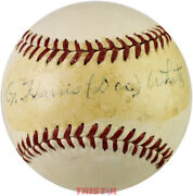 G. Harris And039docand039 White Autographed Vintage Reach Al Baseball Psa/dna