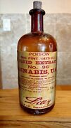 Vintage Medicine Hand Crafted Bottle, Cannabis Fluid Extract 1 Pint, Lilly No.96