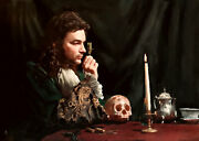 New Original William Oxer F.r.s.a Life In Detail - Shakespeare Hamlet Painting