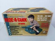 Rare Marx 1968 Sound-o-power Ride A Tank Sealed New In Box Mint Up