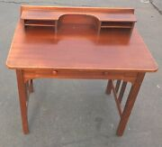 Early Stickley Brothers Quaint Furniture Writing Desk Grand Rapids Table 1900and039s