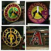 Custom Metal Sign Wall Art Large Indoor Outdoor Signage Business Signs Art Work