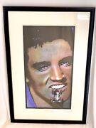 John Mackechnie Limited Edition Original Print 10/15 And039mercedes Benzand039 And Elvis