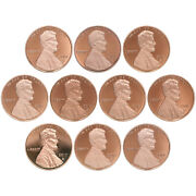 2010-2019 S Lincoln Shield Cent Gem Deep Cameo Proof Run 10 Coin Set Us Mint