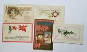 C1911-1926 Vintage Antique New Years Holiday Postcards Lot Of 5