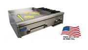 New 48 Combination Cooktop 36 Griddle 2 Open Gas Burner Stratus Smg-36-ob2 3274