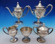 Dolores By Shreve Sterling Silver Tea Set 5-piece 4406