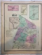 Town Of Milan Dutchess County Ny 1867 Lithograph By F.w. Beers
