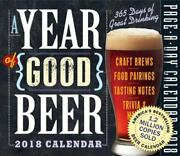 A Year Of Good Beer Page-a-day Calendar 2018, Workman Publishing, Very Good Cale