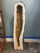 """34.5"""" Tall - 50.9 Kg - Heat Treated Amethyst Cathedral / Geode Crystal Specimen"""
