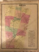 Town Of Amenia, Dutchess County, Ny 1867 Lithograph By F.w. Beers