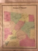 Town Of Pleasant Valley, Dutchess County, Ny 1867 Lithograph By F.w. Beers