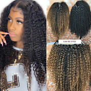 Deluxe Kinky Curly 13x6 Lace Front Wigs Italian Virgin Human Hair Wig Baby Hair