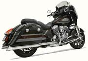 Bassani True Duals 2 Into 2 Exhaust System Pipes Indian 14+ Chieftain Roadmaster