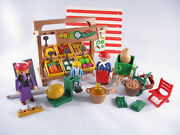 Playmobil Vintage 5341 Produce Stand Victorian Mansion 5300-100 Complete-boxed