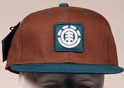 Element Skateboards Fenwick Brown Chestnut Fitted Hat Cap Size S/md Retro Style