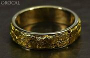 Gold Nugget Men's Ring Orocal Rm6mm Genuine Hand Crafted Jewelry - 14k Casting