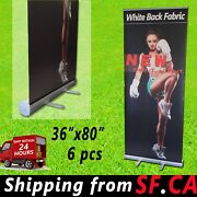 6 Pcs,36x 80, Retractable Banner Stand,roll Up Trade Show Pop Up Display Stand