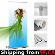 """5 Pack,48""""x70-94"""",deluxe Retractable Roll Up Banner Aluminum Stand"""