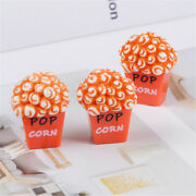 10 Pcs Resin Plastic Popcorn Food Cabochons Charms Slime Craft Findings 23x30mm