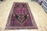 Old Handmade Persian Shiraz Wool Rug In Great Condition 262 X 130 Cm