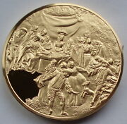 Spain Marriage Contract And Country Dancing Watteau 1714 Bu Proof Medal 51mm.