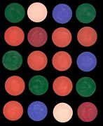 1959 Armour Coins Complete Set 20/20 4 - Includes Color Variations