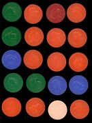1959 Armour Coins Complete Set 20/20 2 - Includes Color Variations