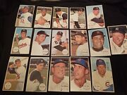 Lot 16 1964 Topps Giants Genuine Authentic Baseball Cards Stars Mantle + Nice