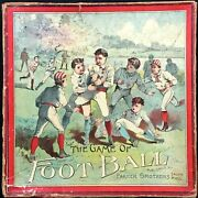 Scarce 1895 The Game Of Foot Ball By Parker Brothers Complete W/original Box