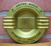 United Music Juke Boxes And Amusement Old Advertising Ashtray Tray New London Conn