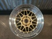 ⭐rare 2 Piece Msr 285 Wheel Gold And Polished 15x9 4 On 4.5 Bore 72.64mm 15mm