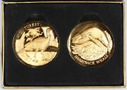Longines Wild Turkey Humpback Whale 1oz Sterling Silver Medals Gilt With 24k